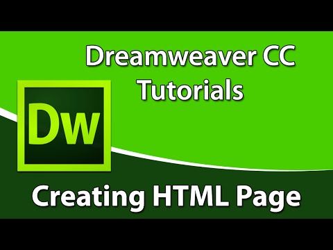 Dreamweaver CC Tutorial: How to Create an HTML Page