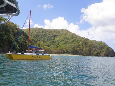 HD Tobago Island Boat Tour Showing Many Beaches Trinidad & Tobago