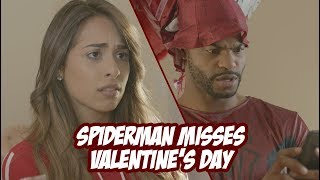 Spider-Man Misses Valentines Day l King Bach, Leli,  and Alphacat