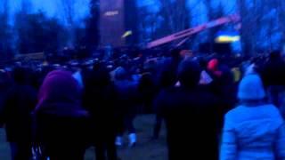 Снос памятника Ленину Николаев 22.02.2014