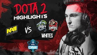 NAVI Dota2 Highlights vs Whites, Team Spirit, Team Empire @ ESL One Genting 2018 CIS qualifier