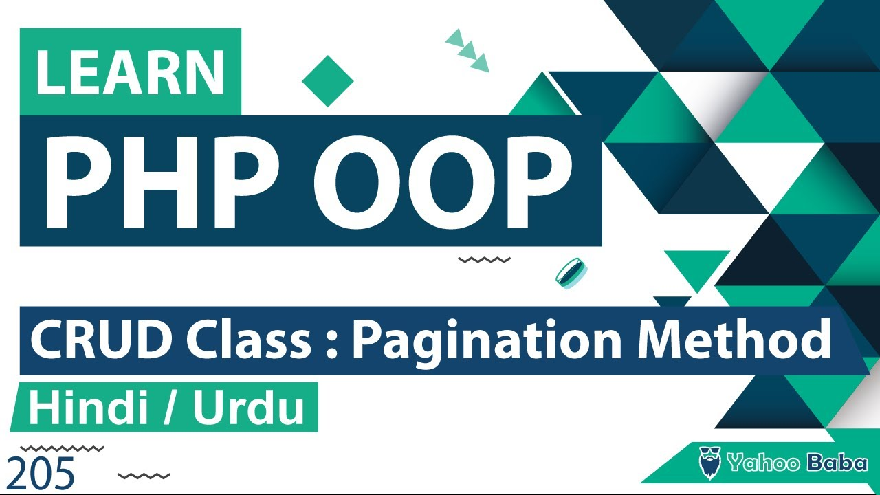 PHP CRUD Class Pagination Method Tutorial in Hindi / Urdu