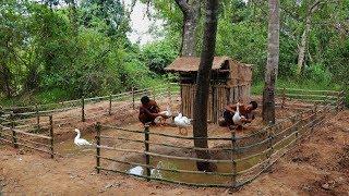 Build Water Pool Around Underground House For Goose