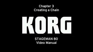 [з CC] Корг STAGEMAN 80 Відео керівництво - Розділ 3: створення ланцюжка