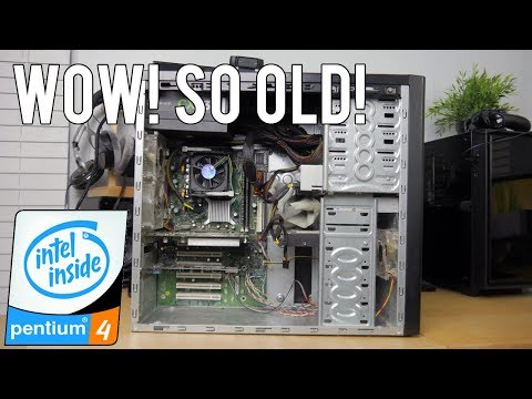 WOW! FOUND MY OLD INTEL PENTIUM 4 COMPUTER!