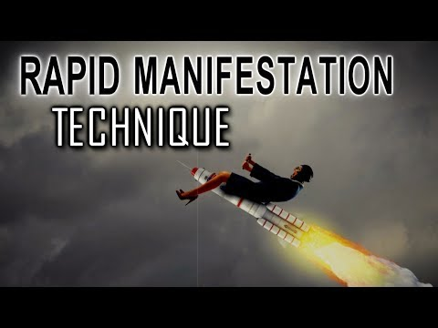 Law of Attraction RAPID MANIFESTATON Technique  - MANIFEST What You Want FAST!