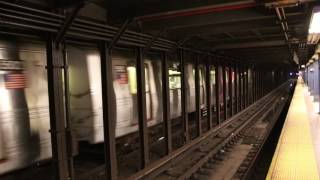 MTA NYC Subway rerouted F train & Q train passing 8th St/NYU