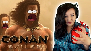 Tired... BUT GAMES ...And DRINKS! ♥ || Conan Exiles LIVE!