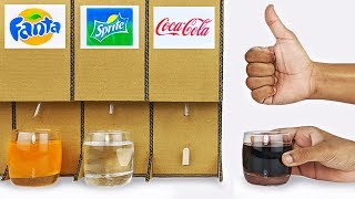 How to make Coca Cola Pepsi Fountain Machine at home DIY Cold drink Dispenser