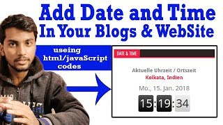 How to add Date and Time in blog/website using html-javascript | IP TechTube