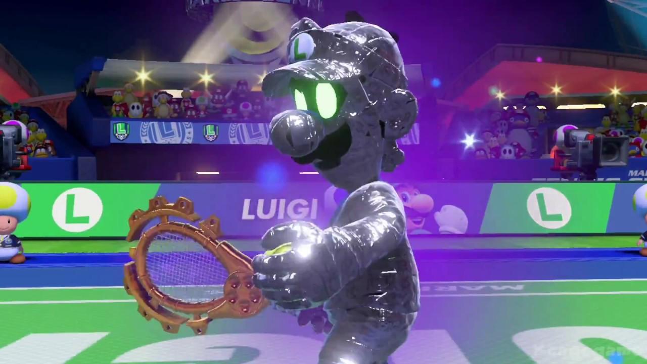 Mario Tennis Aces Mario Vs Dark Luigi Gameplay