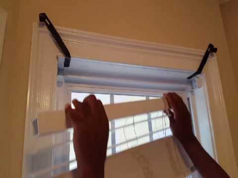 window frame curtain rod holders