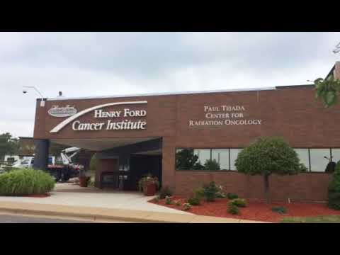 Unveiling of new sign at Henry Ford Allegiance Health
