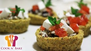 Feta Cheese Cups With Herbs (vegetarian Appetizers) - Cook N' Bake