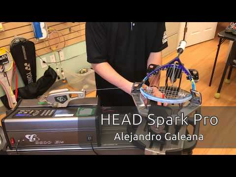 Time Lapse: How to String a Head Spark Pro Squash Racquet