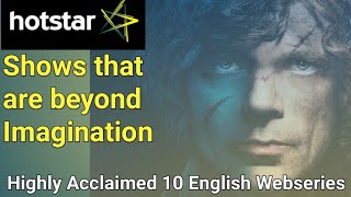 Top 10 Best English Web Series on Hotstar with IMDB Rating 8.5+ !!!