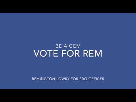 Remington Lowry SBO Video 2018