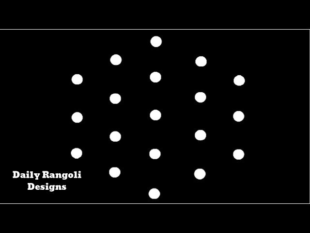 Very Very Easy Rangoli Designs | Simple Kolam Muggulu Rangoli 5X3 Dots | Easy Simple Kolangal #937