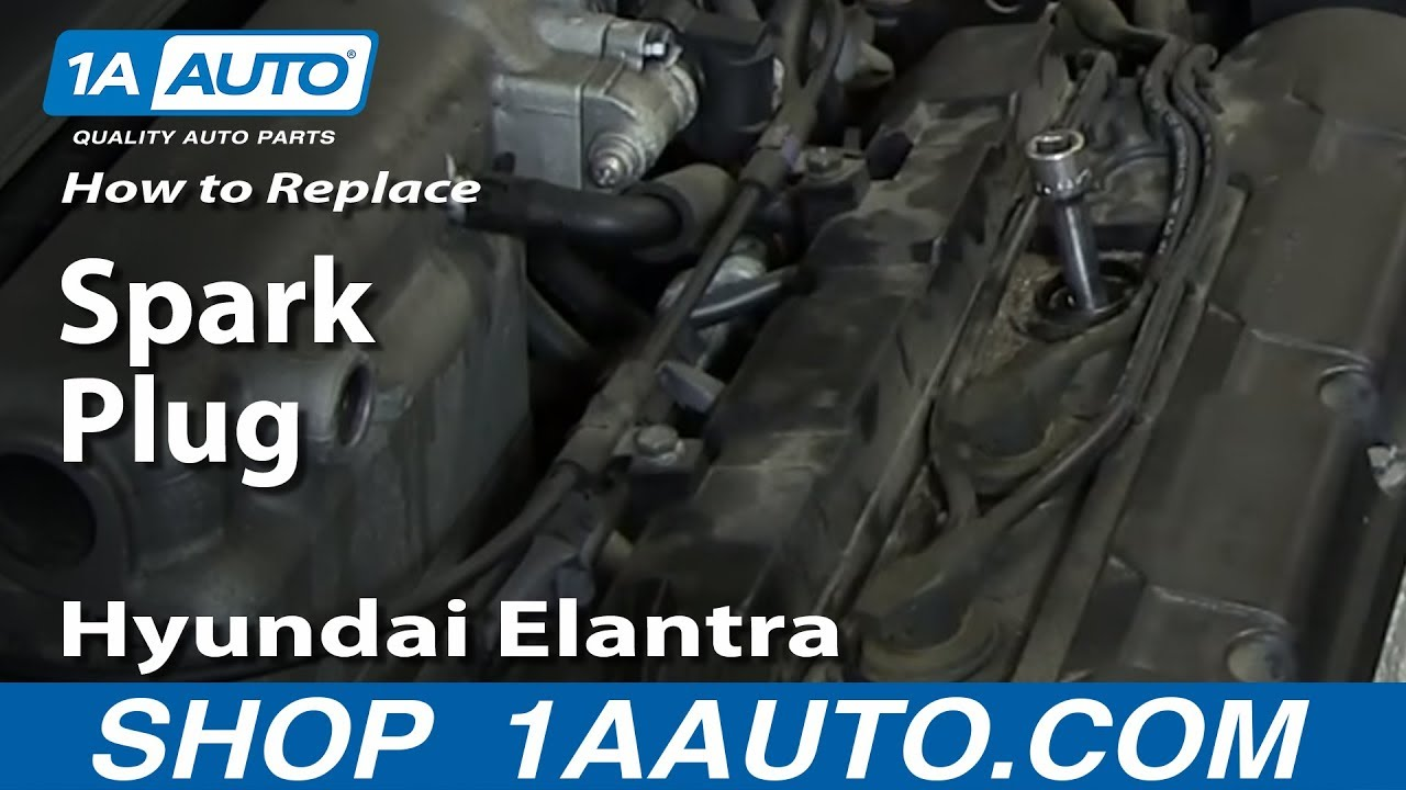 small resolution of how to replace change install spark plugs 2001 06 hyundai elantra 2 0l