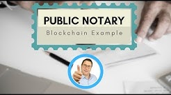 Example of a Blockchain Notary incl. Working Example and Github link