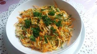 Осений салатик из сырых кабачков и  морковью