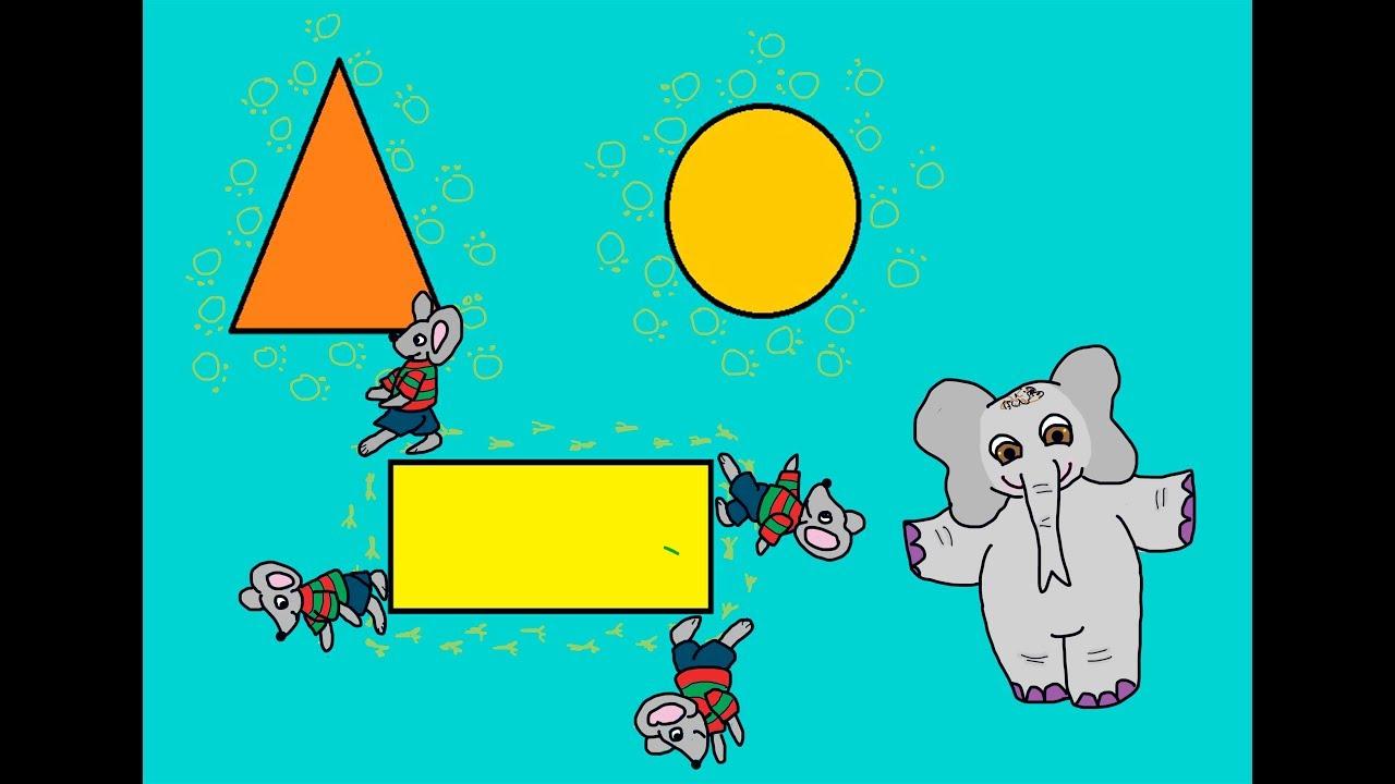 Lær: Hvad er omkreds. Matematik med musen Metermål