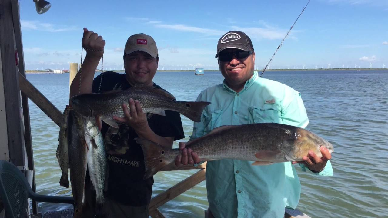 Fishing at the floating cabin corpus christi tx youtube for Corpus christi fishing report