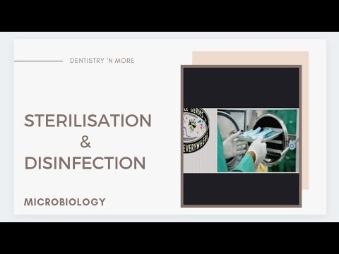 STERILISATION & DISINFECTION