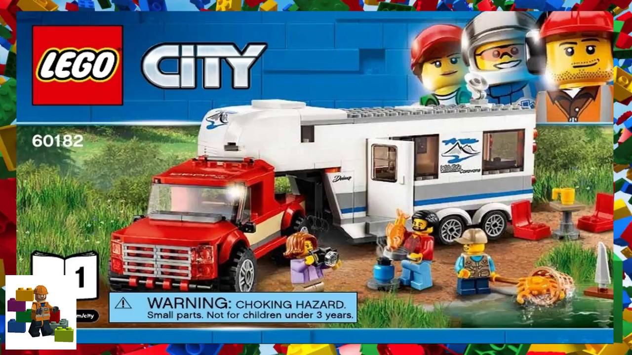 Lego Instructions City 60182 Pickup Caravan Book 1 Youtube