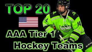 Top 20 AAA Tier 1 Teams - USA