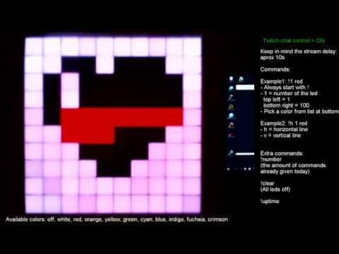 "Twitch chat controls RGB led matrix: Heart made by ""Cliff122"""