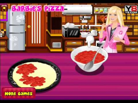 Barbie Cooking Pizza With Sound Y8 Com Youtube
