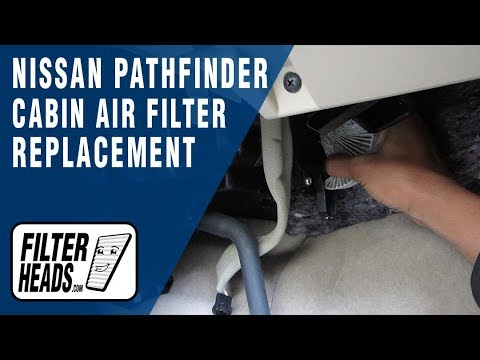 How to Replace Cabin Air Filter 2013 Nissan Pathfinder