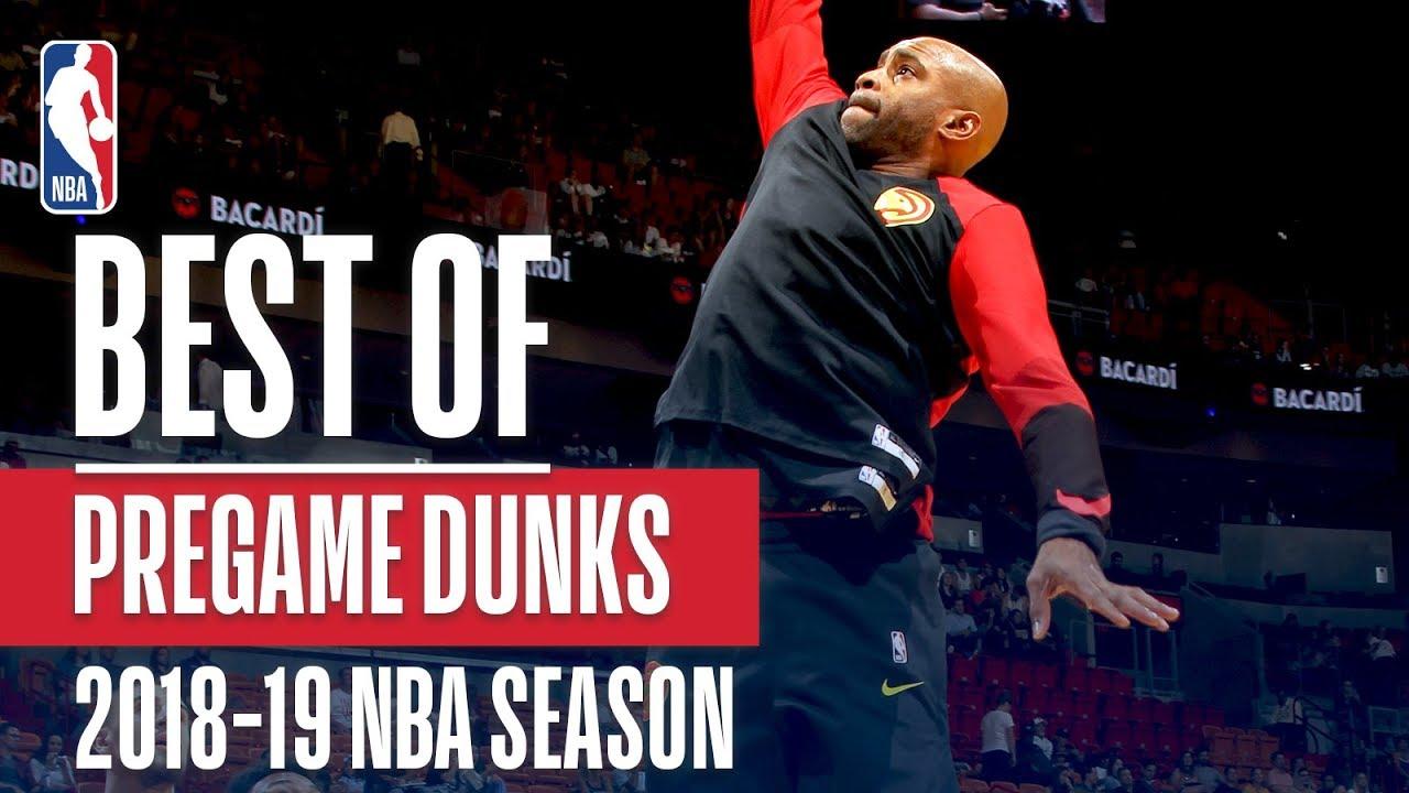 NBA's Best Pregame Dunks | 2018-19 NBA Season | #NBADunkWeek