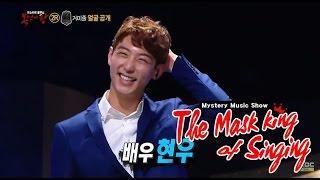 [King of masked singer] 복면가왕 - 'through the hidden webs' is Hyun-woo! 20150426