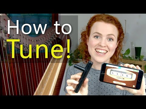 How to Tune a Harp with a free tuning app!
