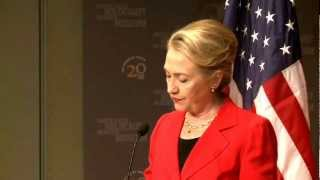 US Secretary of State Clinton on Meeting the Challenge of Genocide