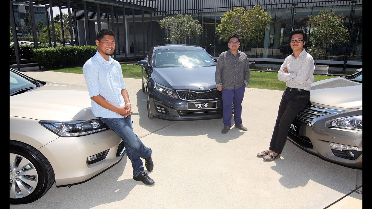 DRIVEN 2014 3 Honda Accord vs Nissan Teana vs Kia Optima  YouTube