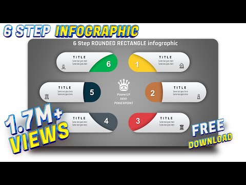 9.Create 6 Step ROUNDED RECTANGULAR Infograhic🔥🔥🔥|PowerPoint Presentation|Slide Design|Free Template