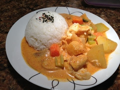 Red Thai Curry with Fish and Vegetables