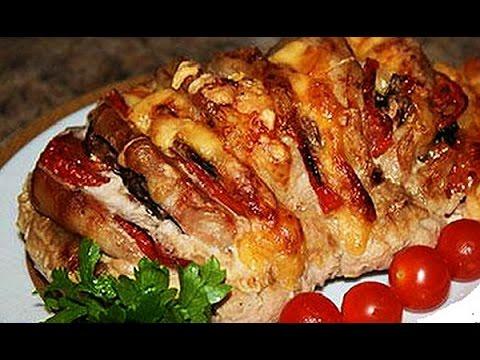 Мясо, запеченное с сыром