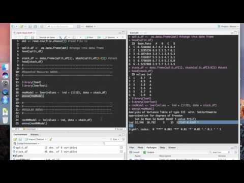 Repeated Measures ANOVA in R || lme4 - YouTube