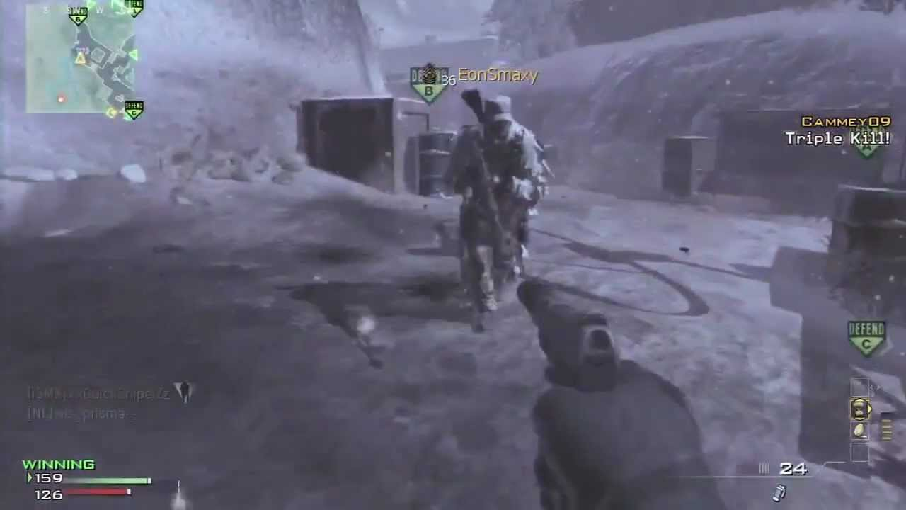 My First MW3 Triple Collateral + Quad Feed Killcam