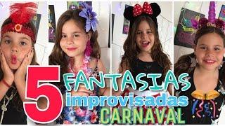 5 FANTASIAS improvisadas pro CARNAVAL 🎉