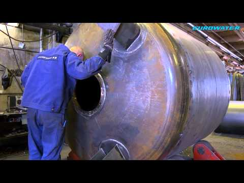 EUROWATER manufacturing steel vessels for pressure filters
