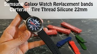 Samsung Galaxy Watch, Replacement Silicone 22mm Bands : Carterjett