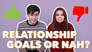"""COUPLE REACTS TO """"RELATIONSHIP GOALS""""!"""