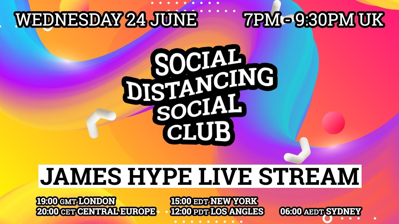 James Hype - Live Stream #stayhome #withme 24/06/20