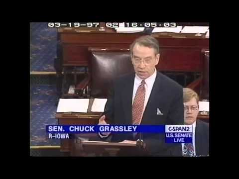1997: Senators Hatch & Grassley on nomination of Merrick Garland to be US Circuit Court (C-SPAN)