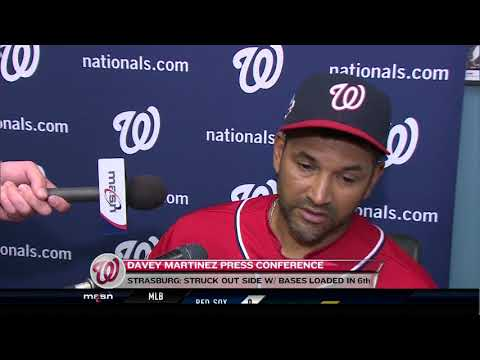 Davey Martinez after Nats fall to Dodgers